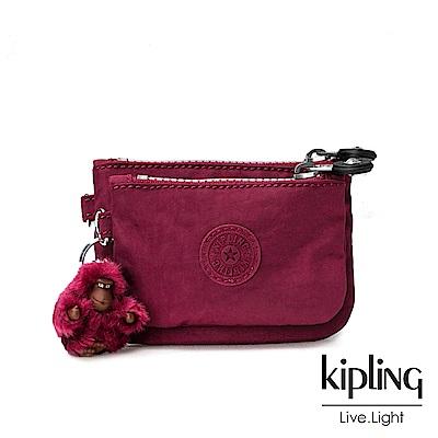 Kipling 莓紫素面零錢包(中)