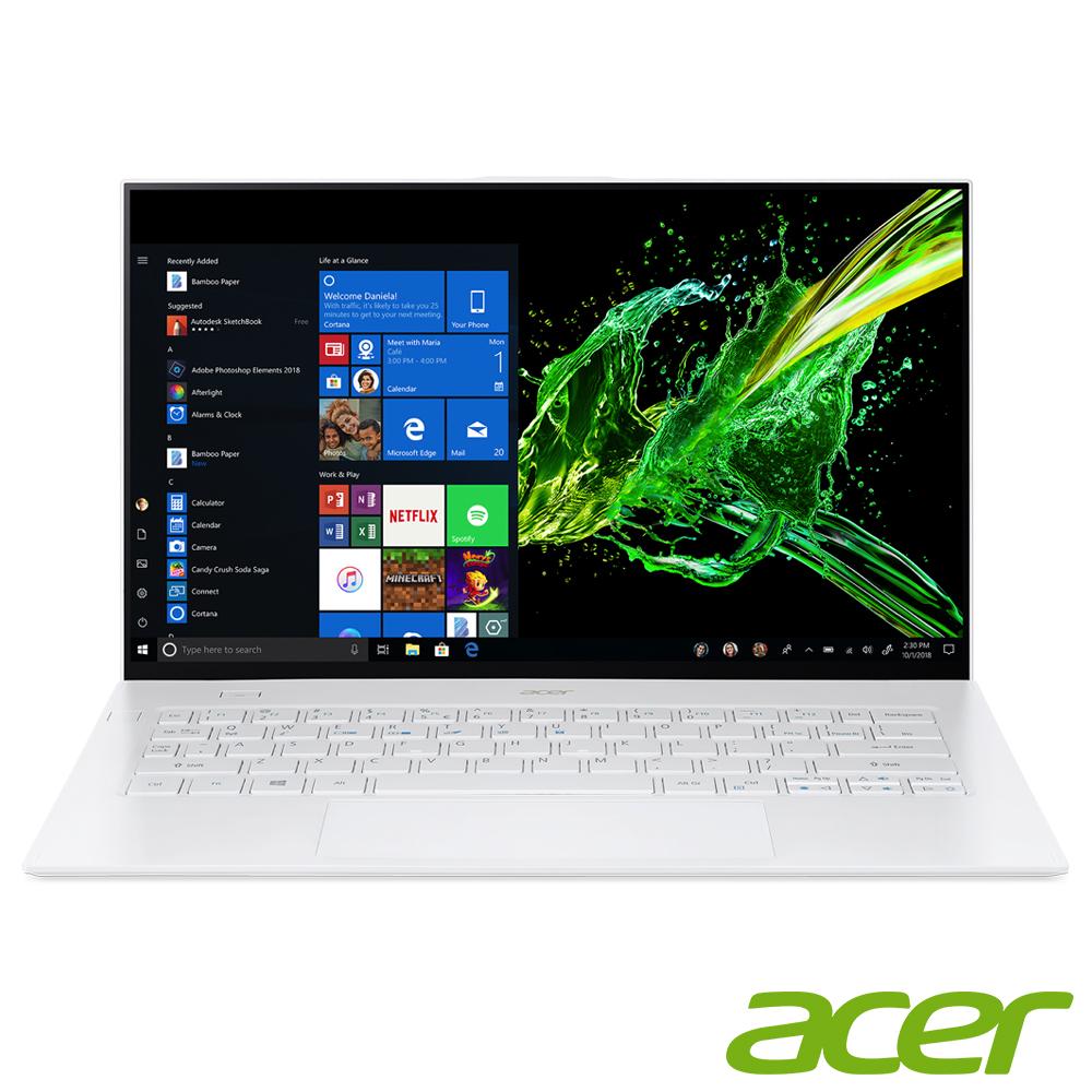 Acer SF714-52T-79SG 14吋筆電(i7-8500Y/16G/512G/白