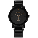 CITIZEN 簡約時尚 不鏽鋼手錶(BE9187-53E)-鍍黑/42mm