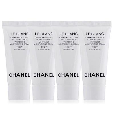即期品 CHANEL 香奈兒珍珠光感TXC美白保濕乳霜-豐潤版5mlX4期效201902