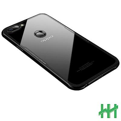 鋼化玻璃手機殼系列 OPPO R11s (6.01吋) 防摔全包覆式(透明黑邊)