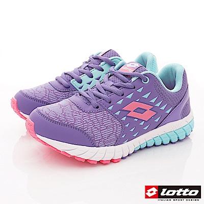 Lotto義大利運動鞋 雙密度避震跑鞋款 SE057紫(中大童段)