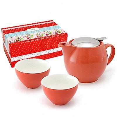 ZERO JAPAN 典藏陶瓷一壺兩杯超值禮盒組(蘿蔔紅)