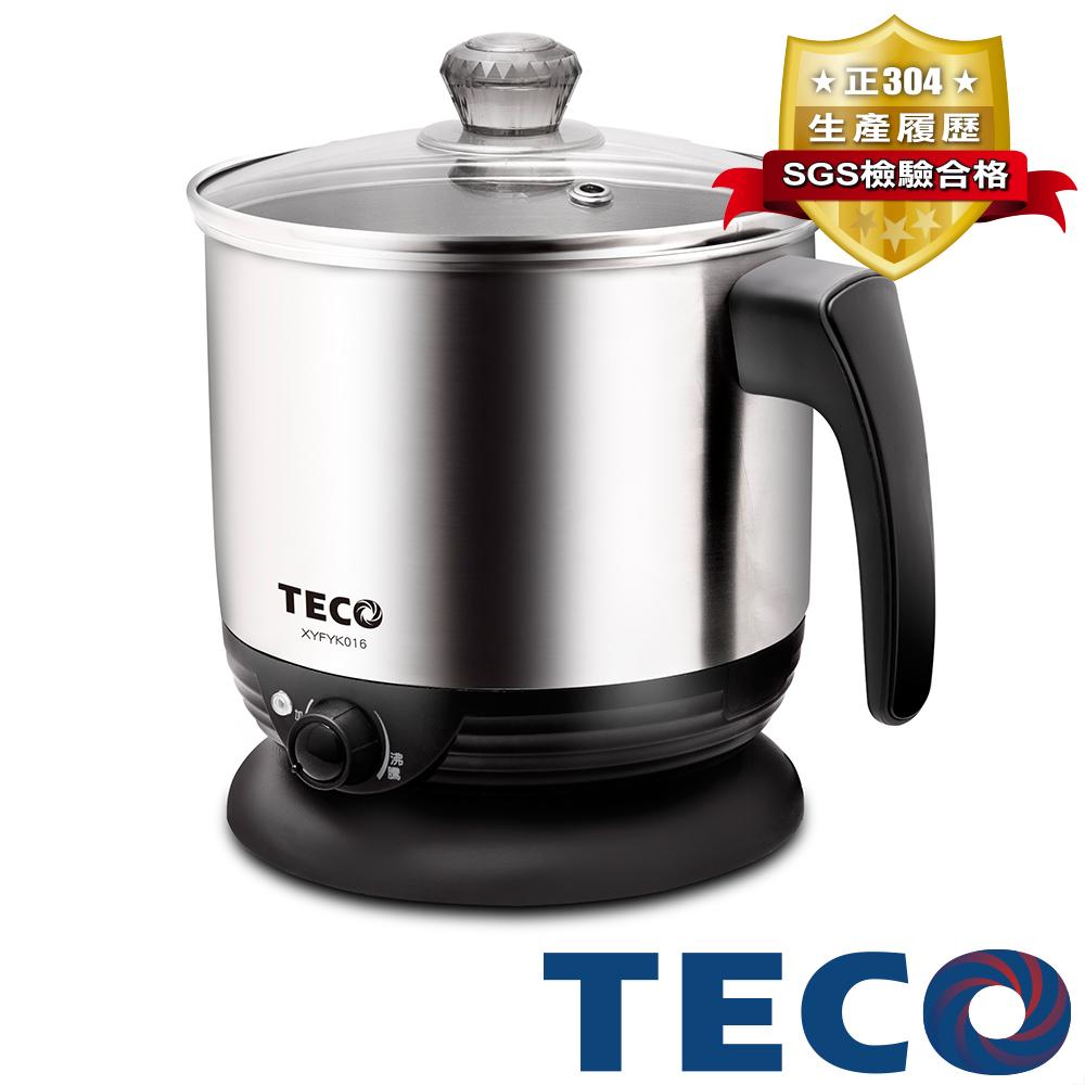 TECO東元 1.6L多功能不鏽鋼美食鍋 XYFYK016 @ Y!購物