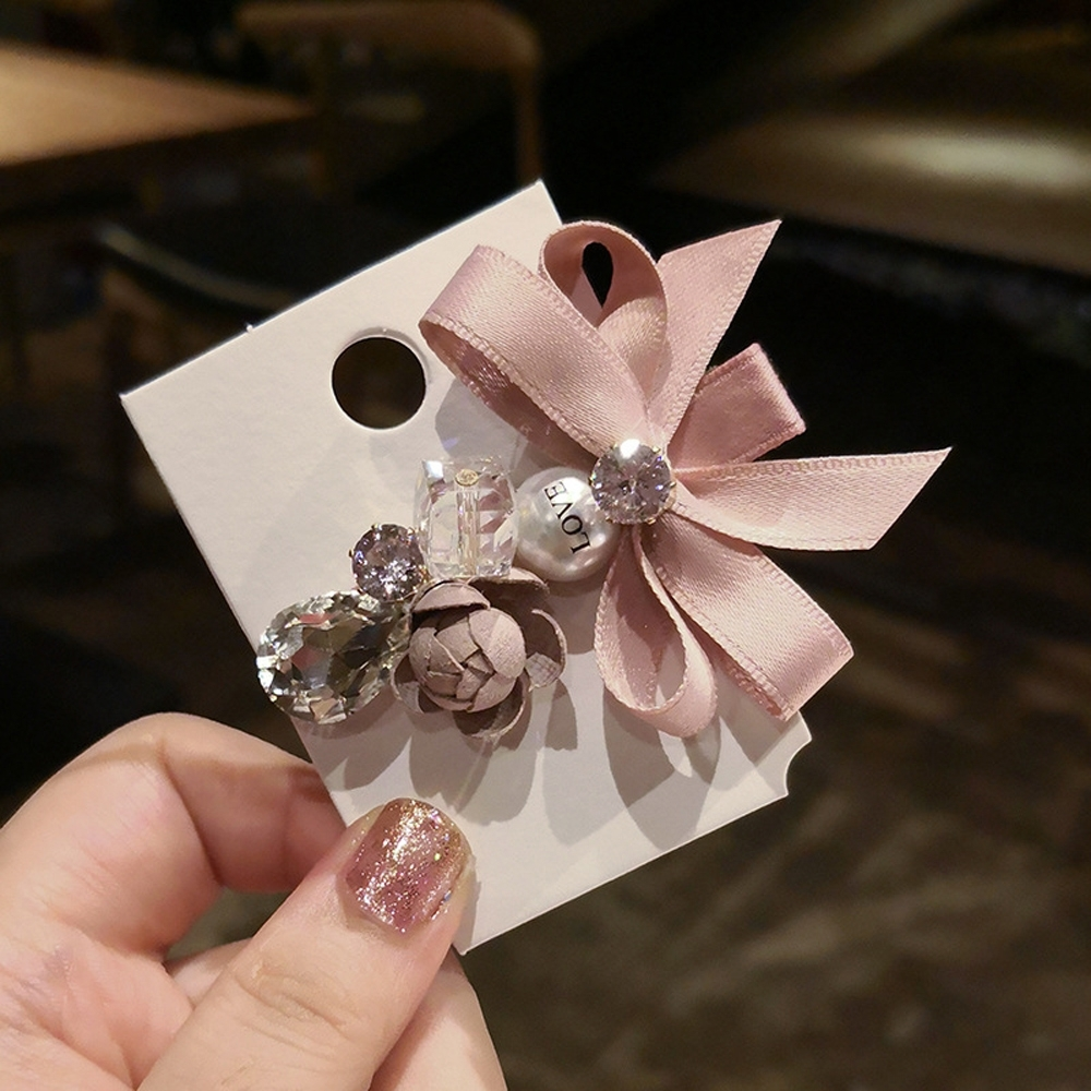 梨花HaNA 韓國手作系列薔薇夢幻珍珠髮夾