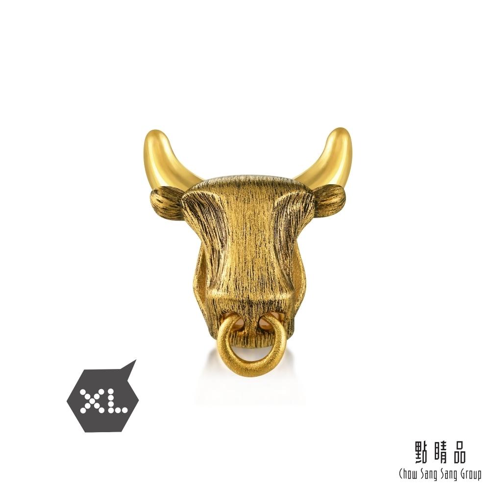 點睛品 999純金 Charme XL 個性金牛 黃金串珠