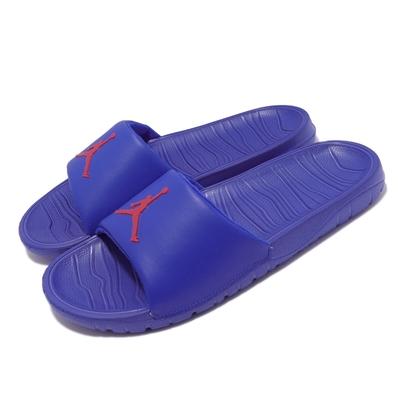 Nike 拖鞋 Jordan Break Slide 男鞋 喬丹 輕便 套腳 休閒穿搭 緩震 藍 紅 AR6374-416