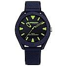 Superdry 極度乾燥 休閒潮流時尚手錶-藍X螢光/43mm