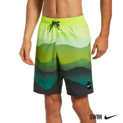 NIKE 成人男性九吋海灘褲 LANDSCAPE 綠 NESSB528-364(有內裡)