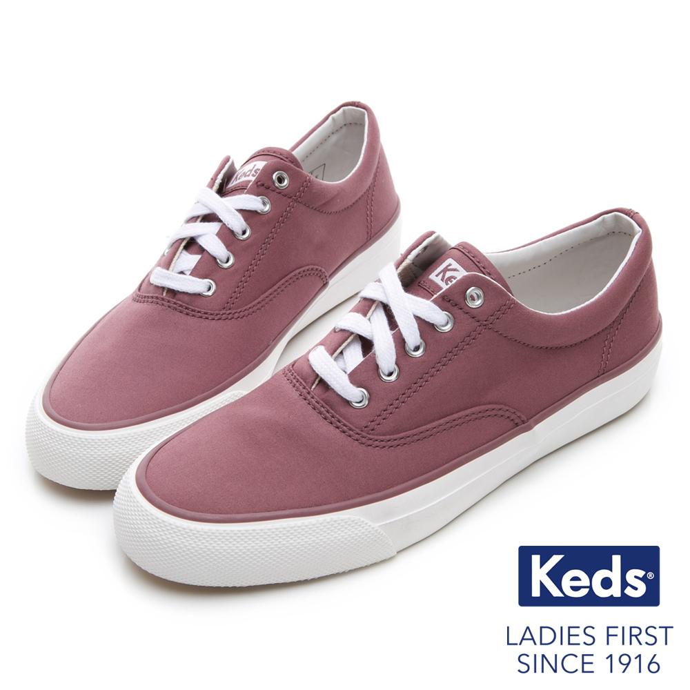 Keds ANCHOR 霧感復刻綁帶休閒鞋-紫紅