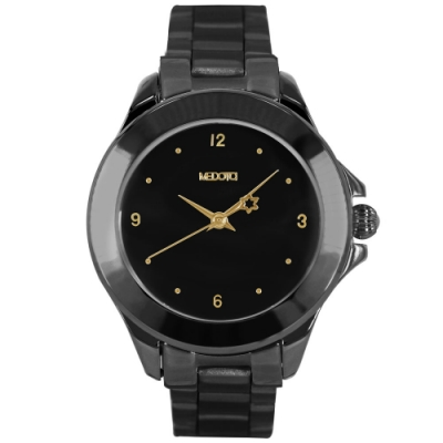 MEDOTA  Daisy 系列復古簡約鍍黑x金色時標女錶 / DS-9802