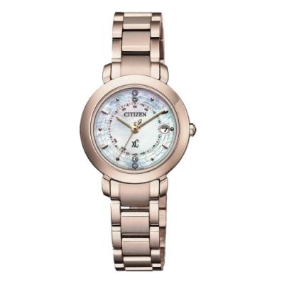 CITIZEN 星辰限量XC女神電波鈦對時錶27mm(ES9444-50X)