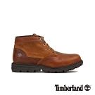 Timberland 男款中褐色拼接皮革防水短靴|A1GTA