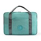 PUSH!旅遊用品可固定套在拉杆箱上防水手提行李包挎肩背包便攜行李收納包蒂芬妮藍S53-1