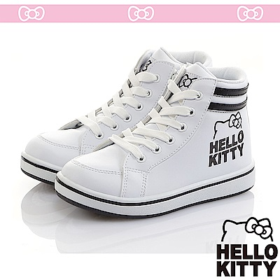 HelloKitty童鞋 極簡風輕量減壓抗菌防臭休閒高筒鞋-白