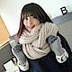 圍巾 純色厚保暖粗針織圍巾(米白)N2 product thumbnail 1