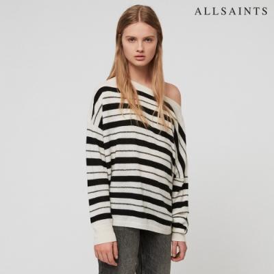 ALLSAINTS MISTY 羊毛條紋寬鬆針織毛衣