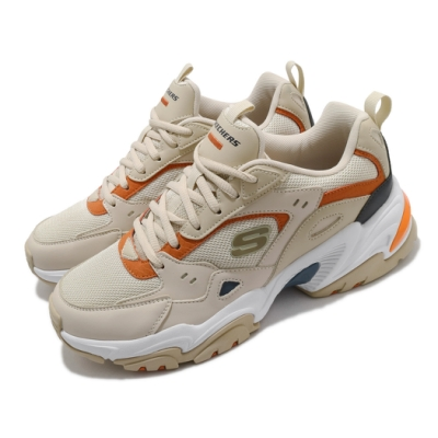 Skechers 休閒鞋 Stamina V2 厚底 復古 男鞋 輕量 避震 緩衝 膠底 耐磨 防滑 淺褐 橘 237163TPE