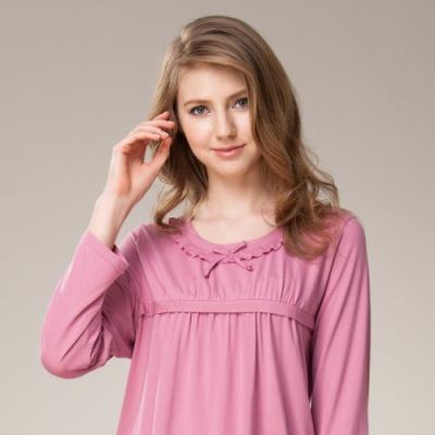 La Felino - 機能竹碳纖維長袖褲裝睡衣 - 桃粉色