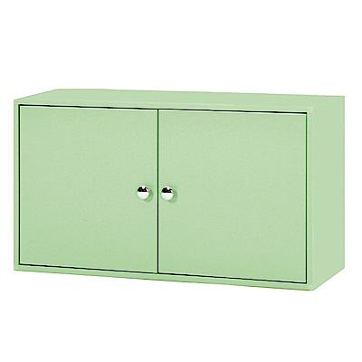 綠活居 阿爾斯環保2.8尺塑鋼二門收納櫃-83x31x43.5cm免組