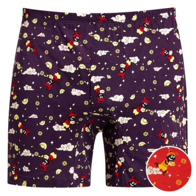 DADADO-鼠來寶 M-3L 印花四角男內褲(紅)舒適寬鬆