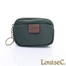 LouiseC. 尼龍簡約萬用零錢包/鑰匙包-綠色 16N37-0045A08