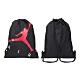 NIKE JORDAN 束口袋-飛人喬丹 後背包 雙肩包 肩背包 束口包 JD2113040AD-001 黑紅白 product thumbnail 1