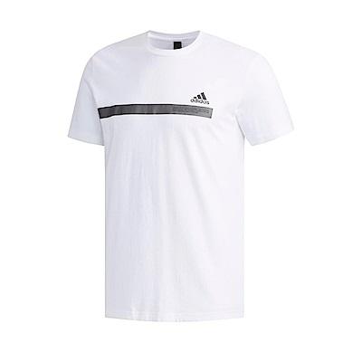 adidas T恤 SS Tee Tape 運動 休閒 男款
