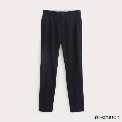 Hang Ten-男裝素面REGULAR FIT防皺工作長褲-藍