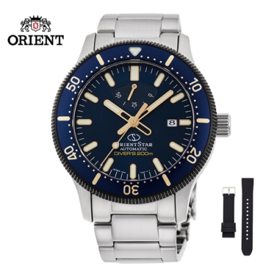 ORIENT STAR 東方之星 DIVERS 200M 系列 機械錶 鋼帶款 藍色 RE-AU0304L (全球限量1200只) - 39.3mm