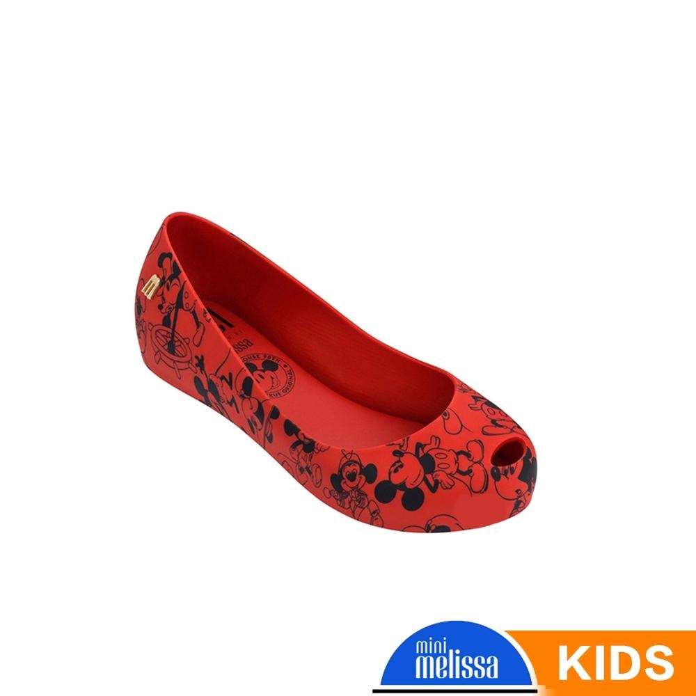 Melissa Mickey國際聯名款 娃娃鞋兒童款 紅