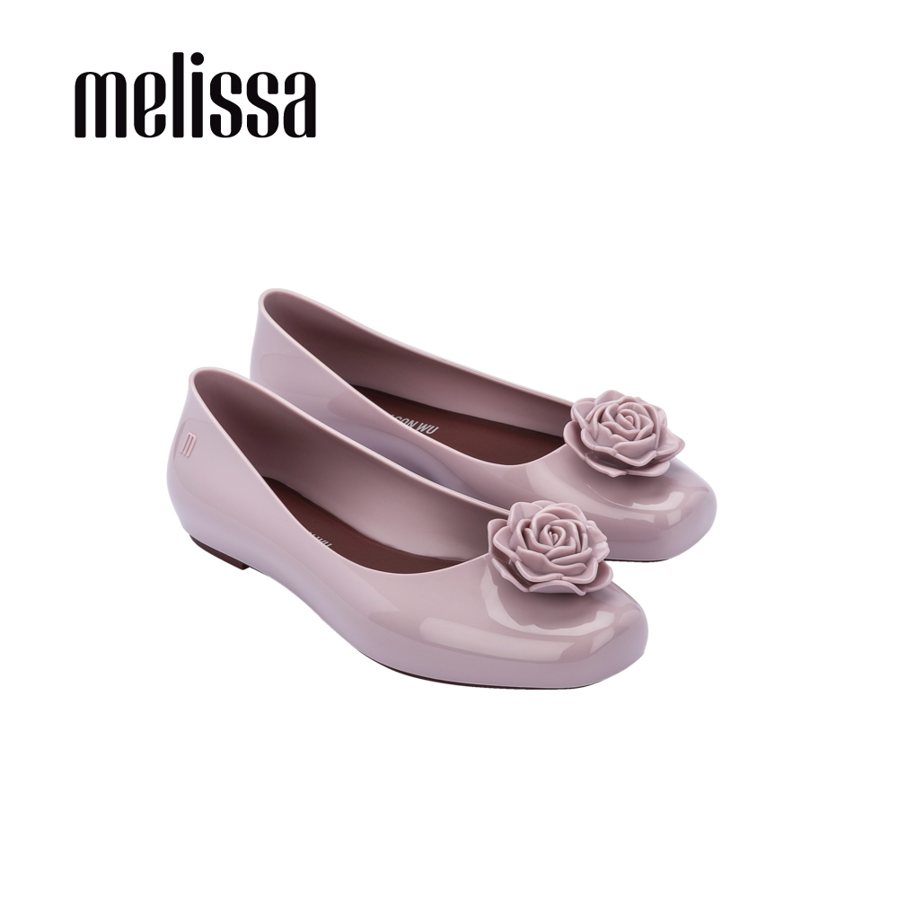 Melissa x Jason wu 精緻花朵設計娃娃鞋-藕紫