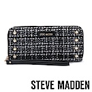 STEVE MADDEN-BLOPE-W-復古黑白珍珠布紋百搭長夾-黑色