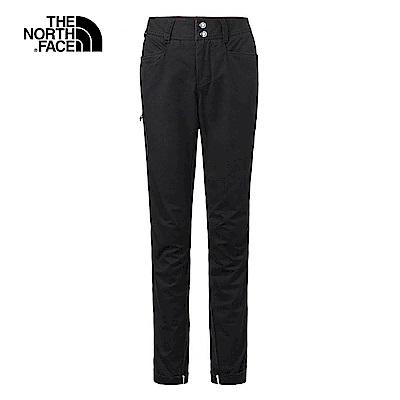 The North Face北面女款黑色舒適耐穿戶外休閒褲|3L77JK3