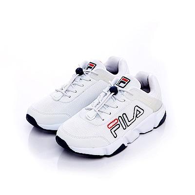 FILA KIDS #原宿篇 大童慢跑鞋-白 3-J860S-113