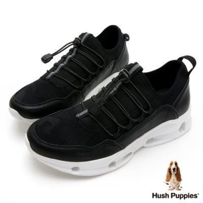 Hush Puppies 都市機能健走男鞋-黑色
