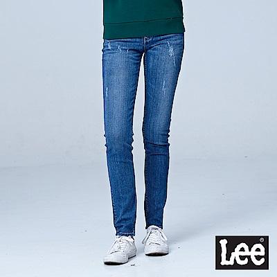 Lee 403超低腰合身窄管牛仔褲/RG-中藍色