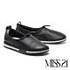 休閒鞋 MISS 21 舒適滿分圓滾抽繩設計全真皮厚底休閒鞋-黑 product thumbnail 1