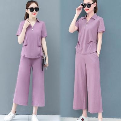 【韓國K.W.】(預購)    好評加碼時尚風格百搭褲套裝
