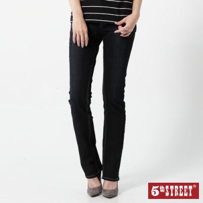 5th STREET 美型彈力 靴型牛仔褲-女-原藍磨