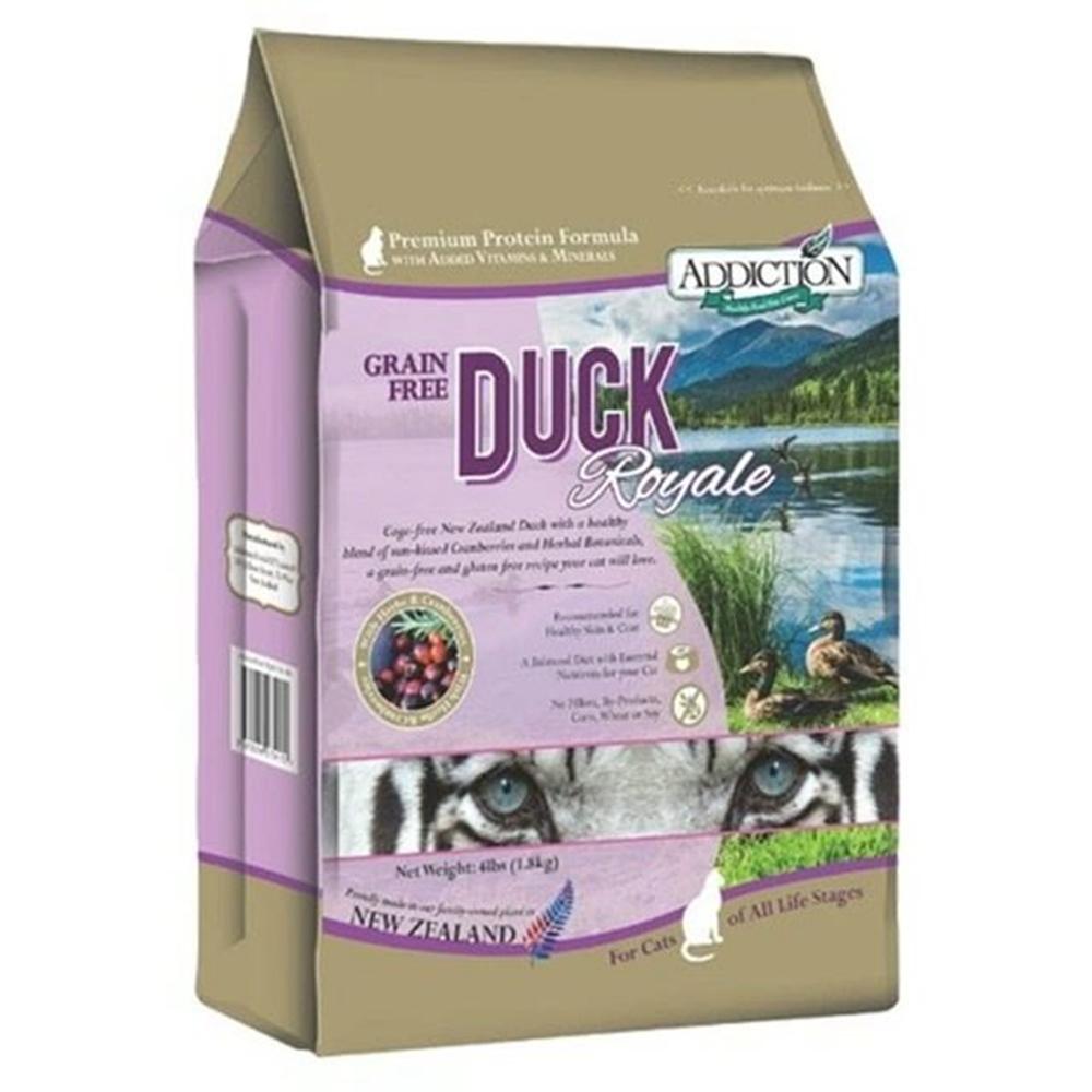 紐西蘭-ADDICTION自然癮食 低敏原野鴨無穀貓寵食 1磅/454公克 兩包組 (購買二件贈送全家禮卷100元*1張)