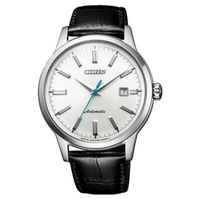 CITIZEN Mechanical摩登復古魅力機械腕錶-黑X銀(NK0000-10A)