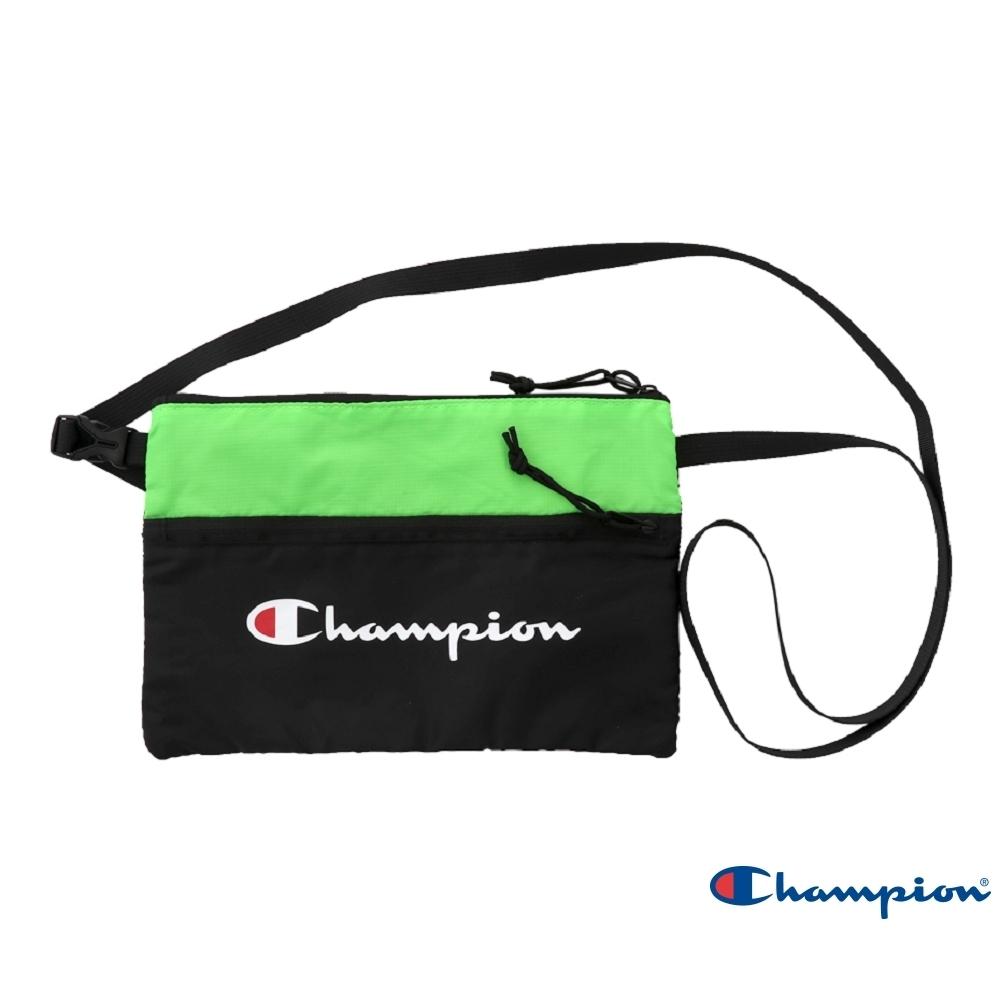 Champion 草寫LOGO小側背包(螢光綠)