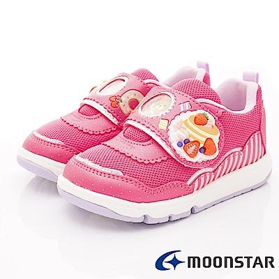 日本Carrot機能童鞋 甜點小熊2E支撐款 TW2142桃紅(中小童段)