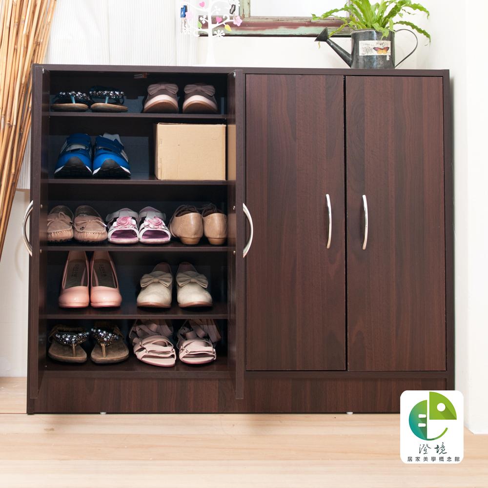 澄境 居家四門五層大容量收納鞋櫃101X31X82cm-DIY