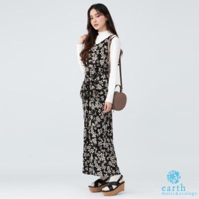 earth music V領前開釦無袖洋裝