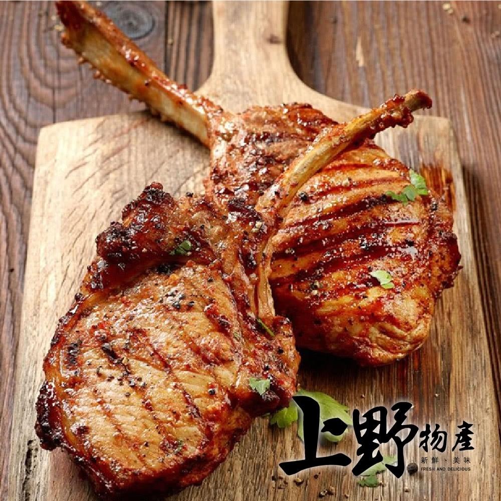 上野物產 法式頂級戰斧小豬排x6支 (125g土10%/支)