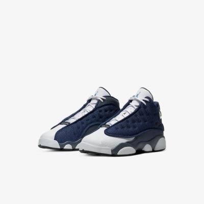 Nike 籃球鞋 Air Jordan 13 Retro 童鞋 經典款 喬丹13代 復刻 中童 穿搭 藍 白 414575404