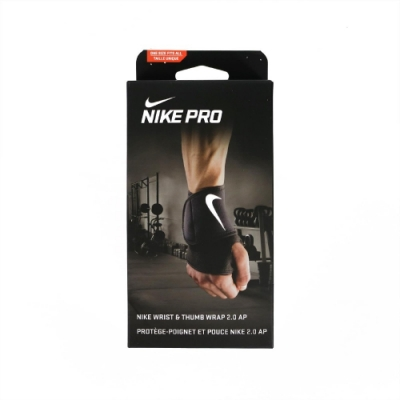 Nike 護具 Wrist & Thumb Wrap 男女款 護腕 健身 重訓 運動 支撐護具 單支入 黑 白 NMZ16010OS