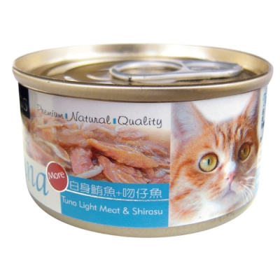 Seeds 聖萊西-Tuna愛貓天然食-白身鮪魚+吻仔魚(70gX24罐)